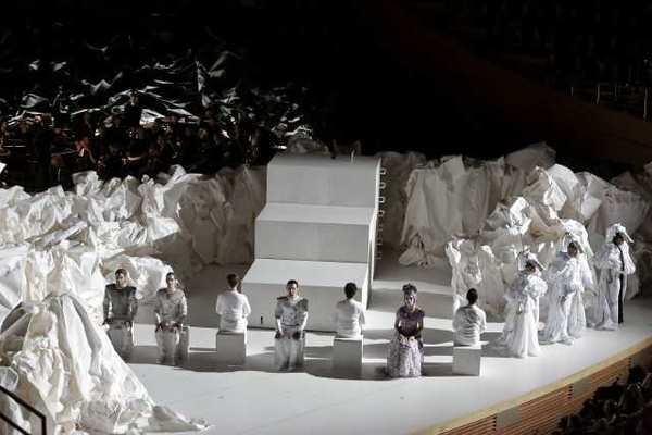 "Mozart's ""Don Giovannia"" at Walt Disney Concert Hall. The sets are by architect Frank Gehry."