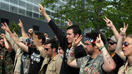 Military veterans protest at NATO summit