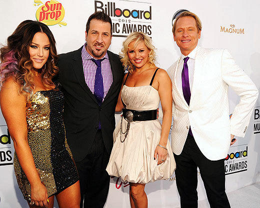 Billboard Music Awards 2012: Best and worst moments: A bunch of the Dancing With the Stars Vegas show cast showed up on the red carpet, where Billboard.com host Jonathan Brooks proceeded to audition with a time step. Joey Fatone and Carson Cressley joked about being drunk on the carpet. Cressley was asked what he hadnt done in his career. Fatone raised his hand. Yes, I havent done Joey. Or women. Ive done womens hair, but no women or Joey. So, lots of possibilities.  -- Jenna Busch, Zap2it