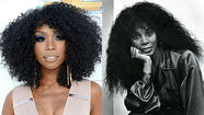 Brandy: Fashion tribute to Donna Summer?