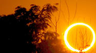 Solar eclipse projects 'ring of fire' across western U.S.
