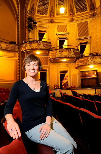 Jessica Green is operations manager with The Maryland Theatre. The theater's board of directors hired Green in January to keep a steady hand on the business side of the facility.