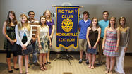 Ten Jessamine County high-school seniors received scholarhips Monday afternoon at the Nicholasville Rotary Club's meeting at Central Bank.