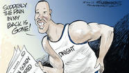 Dana Summers Cartoon: Sports: Orlando Magic, Dwight Howard, Stan Van Gundy