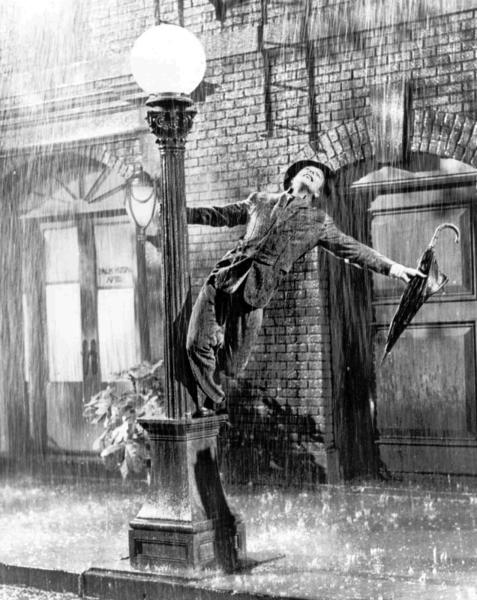 "Gene Kelly in a scene from ""Singin' in the Rain."""