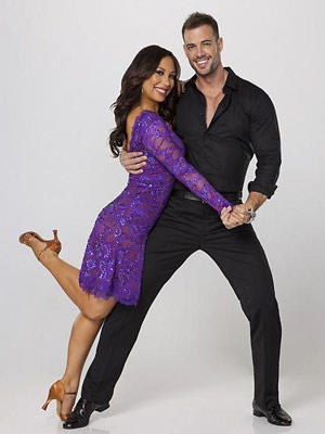 "Professional dancer Cheryl Burke and William Levy of ""Dancing With the Stars."""