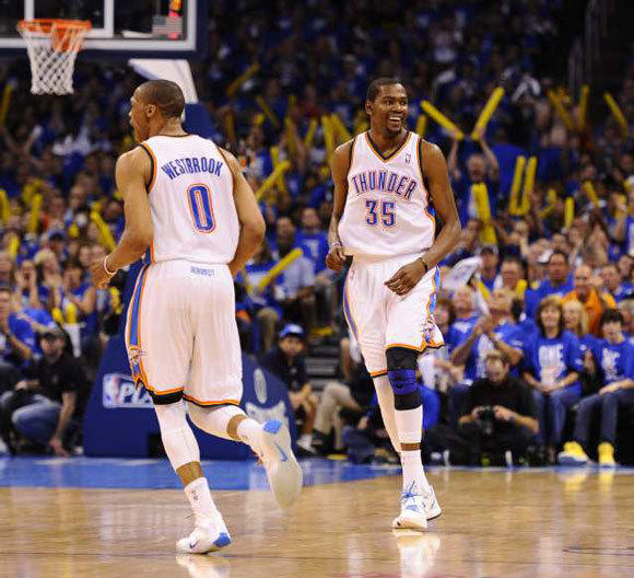 Can Russell Westbrook and Kevin Durant lead Oklahoma City past San Antonio?