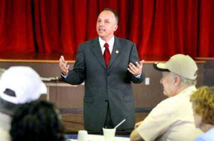 U.S. Rep. Ted Ted Deutch stops by the Century Village Democratic Club in Deerfield Beach.