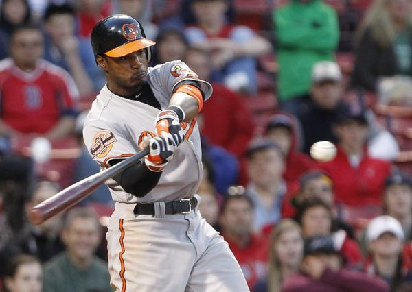 Ever since the Orioles made him the centerpiece in their haul for starting pitcher Erik Bedard, big things have been expected from Adam Jones. Up to now, he's shown plenty of talent, winning a Gold Glove in 2009 and hitting 25 homers in 2011. This season, he's putting it all together and looking like a future star, a force in the middle of the lineup. Jones has already smacked 14 home runs, including shots that put the Orioles ahead in their marathon extra-inning games against Boston and Kansas City.