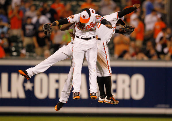 The hot start has gotten the attention of many national writers: the O's are the talk of baseball. Will it be like 2005 again, when they were in the thick of the AL East race only to fall flat on their faces after the All-Star break? That's probably what most, fans and writers alike, expect to happen. A key difference between the '05 team and this year's squad is youth: the 2012 Baltimore Orioles are a young group that is gelling and learning to win together. Now that they've gotten off to an incredible start, maybe as they continue to grown and develop together, they can keep the pace. Why not?