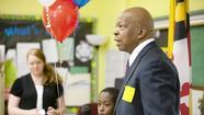 Cummings speaks of 'perseverance' to special education students at Hillcrest