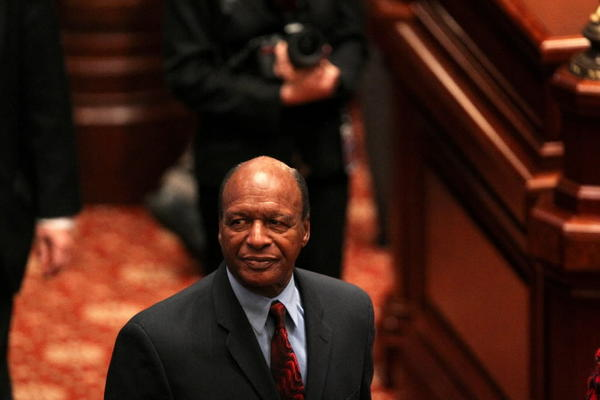 Illinois Secretary of State Jesse White, seen here in February, is leading the search committee for a challenger to Rep. Derrick Smith.