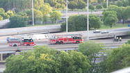 A motorcyclist from southwest suburban Plainfield died after falling from an exit ramp onto the Dan Ryan Expressway at the junction with the Eisenhower Expressway Tuesday evening, state police said.