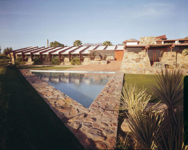 Frank Lloyd Wright purchased land near Phoenix in 1937 and embarked upon a mission to build a campus that would harmonize with the beauty of the surrounding Sonoran Desert (franklloydwright.org).