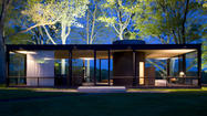Phillip Johnson Glass House in New Canaan, Conn.