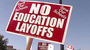 SAN DIEGO – The San Diego Unified School District Board of Education voted 4-1 Wednesday night to uphold over 1,500 layoff notices to employees.