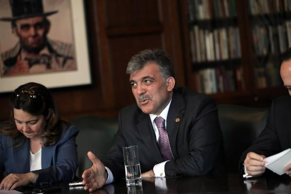 President Abdullah Gul of Turkey meets with the Chicago Tribune's Editorial Board May 21, 2012.