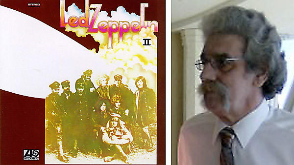 George Blackburn, right, who legally changed his name to Led Zeppelin II after his favorite album, left, by his favorite group.