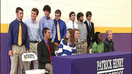 Twelve student-athletes signed on to compete at the next level Wednesday at Patrick Henry High School in Roanoke.