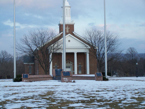 The chapel at the former Scotland (Pa.) School for Veterans Children is shown in this file photo. he board of trustees of a theological seminary based in Findlay, Ohio, voted last week to move forward with the purchase of the former school.