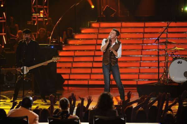 "Scotty McCreery performs on ""American Idol"" on May 22."