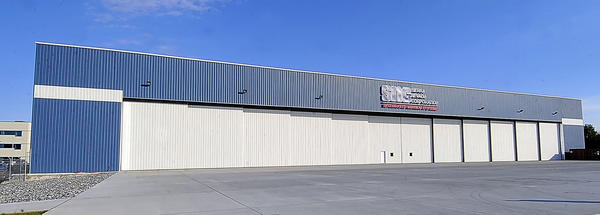 Sierra Nevada Corporation's hangar at Hagerstown Regional Airport is shown in this Herald-Mail file photo.
