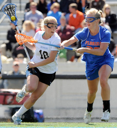 Florida's Brittany Dashiell, Johns Hopkins' Alyssa Kildare