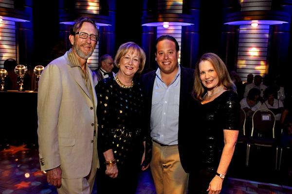 "Jeffery Bland, left, Jane Mitchell, <i>Sun Sentinel¿s</i> Shaun Castillo and Marcie Gorman-Althof at the Kravis Center for the Performing Arts' 19th annual ""Reach for the Stars,"" which benefited the center's S*T*A*R (Students and Teachers Arts Resource) series and education programs. Hosted by the Young Friends of the Kravis Center, the evening's ballroom dance competition featured West Palm Beach Mayor Jeri Muoio and seven local media celebrities (including <i>Sun Sentinel's</i> Shaun Castillo) and their partners from area dance studios."