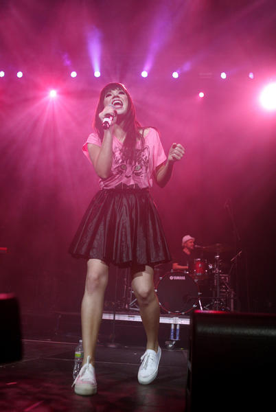 Carly Rae Jepsen performs at the Q102 Springle Ball at the Wells Fargo Center in Philadelphia on May 22.