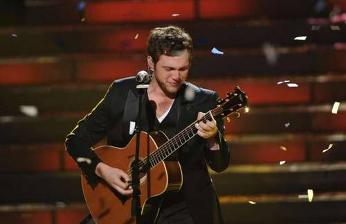 The Season 11 winner Phillip Phillips performs his victory song during the sason 11 AMERICAN IDOL GRAND FINALE.