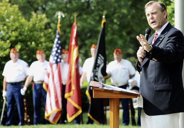 On Saturday, May 26, Tom Riford, retired U.S. Marine Corps sergeant, will speak at a Memorial Day ceremony. The event at Rose Hill Cemetery in Hagerstown will feature military honors by AMVETS Post 10 and bag piper Rick Conrad.