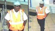 A man dressed in a hardhat and a safety vest tried to rob a Lincoln Park bank this morning, but left empty-handed, according to the FBI.