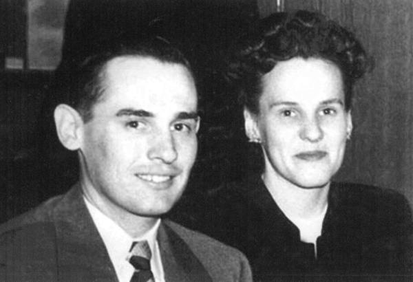 Dr. and Mrs. Tom Turcott, 1947