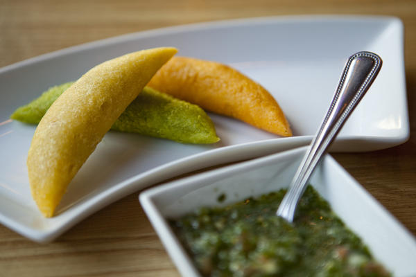 Empanadas at Colombian restaurant Melao
