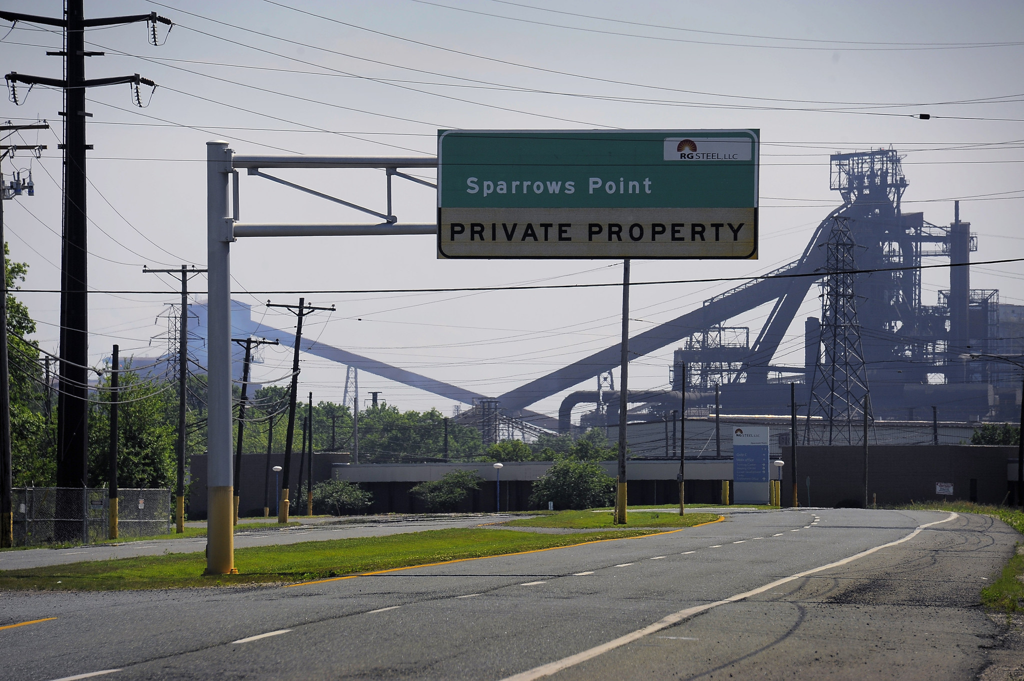 R G Steel Sparrows Point Empty road - The Virgi...