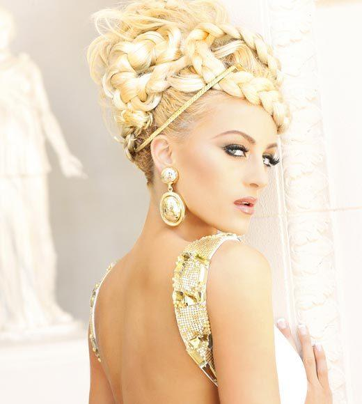 Miss USA 2012: 'Garden of Goddesses' fashion shoot at Caesar's Palace in Las Vegas, NV: Marie-Lynn Piscitelli, Miss Connecticut
