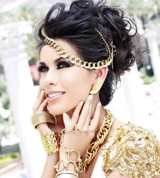 Miss USA 2012: 'Garden of Goddesses' fashion shoot at Caesar's Palace in Las Vegas, NV: Marybel Gonzalez, Miss Colorado