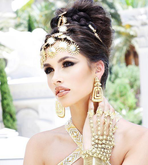 Miss USA 2012: 'Garden of Goddesses' fashion shoot at Caesar's Palace in Las Vegas, NV: Myverick Rashea Garcia, Miss Mississippi