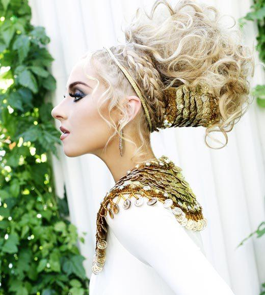 Miss USA 2012: 'Garden of Goddesses' fashion shoot at Caesar's Palace in Las Vegas, NV: Natalie Victoria Pietrzak, Miss Massachusetts