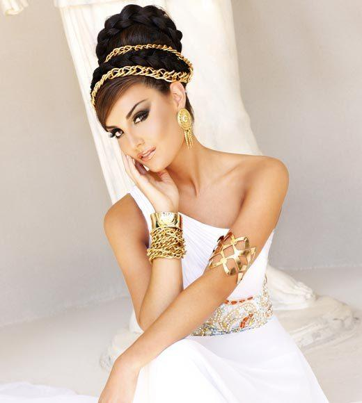 Miss USA 2012: 'Garden of Goddesses' fashion shoot at Caesar's Palace in Las Vegas, NV: Erin Edmiston, Miss Louisiana