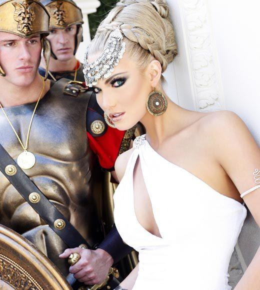 Miss USA 2012: 'Garden of Goddesses' fashion shoot at Caesar's Palace in Las Vegas, NV: Brittany Lynn Booker, Miss Texas