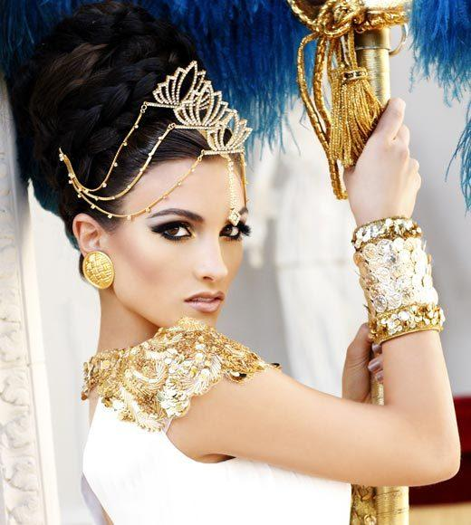 Miss USA 2012: 'Garden of Goddesses' fashion shoot at Caesar's Palace in Las Vegas, NV: Jessica Hibler, Miss Tennessee