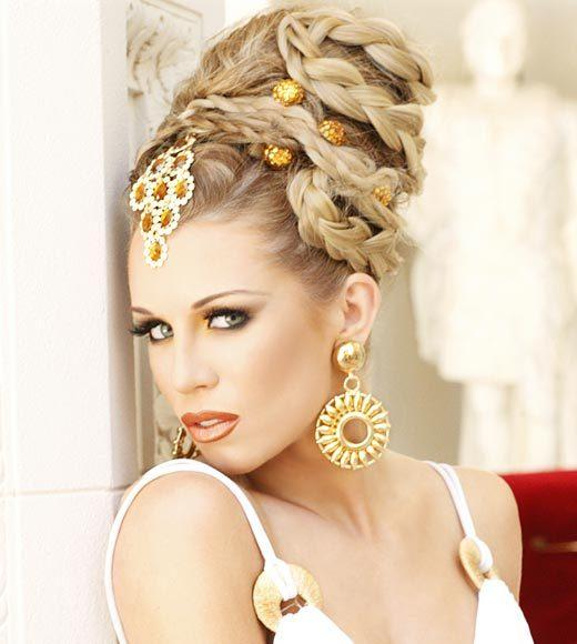 Miss USA 2012: 'Garden of Goddesses' fashion shoot at Caesar's Palace in Las Vegas, NV: Emily Guerin, Miss Wisconsin