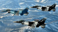 "For months now, Alaska's congressional delegation has been working to <a href=""http://www.ktuu.com/news/49threport/missioncritical/mission-critical-fairbanks-fights-to-keep-eielson-jets-jobs-20120501,0,1282310.story"">stop the Air Force from moving a squadron of F-16 fighter jets</a> from Fairbanks to Anchorage."