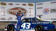Aric Almirola took the pole for the Coca-Cola 600 with a lap of 192.940 mph Thursday night, giving Richard Petty Motorsports a front-row sweep at Charlotte Motor Speedway for NASCAR's longest race.