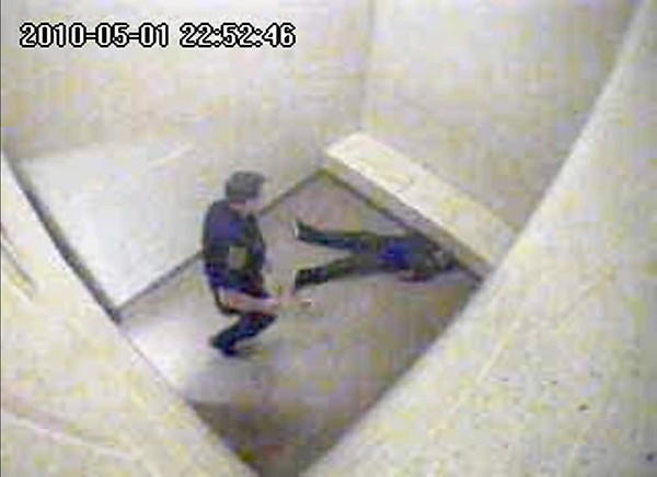 A video inside a Meriden Police department holding cell shows officer Evan Cossette shoving a handcuffed man, who falls backward and slams his head against a concrete bench. Cossette, the police chief's son, re-entered the cell at least six times and moved the unconscious prisoner several times despite the head injury but never called for medical assistance, according to police reports. He was ultimately given a letter of reprimand and ordered to take four hours of training on the proper use of force.