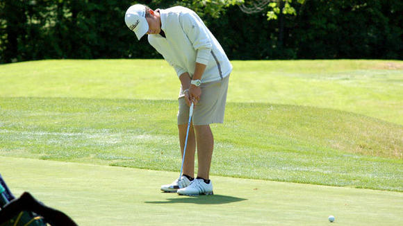 Many putts have sunk this season for Gaylord senior Alex Dombrowski, who earned the distinction as the top golfer in the Big North Conference with an average score under 71 this season. Dombrowski's 73 tied him for first at Tuesday's BNC Championships at Gaylord Country Club.