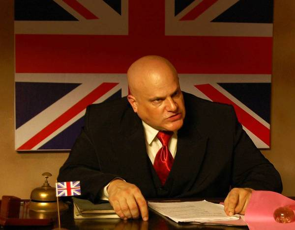 "Brandon Hill as a British lieutenant governor in the Indian TV series ""Mohe Rang De"" (""Color Me""). He often apologizes to the other actors on the set for the lines he'll deliver."