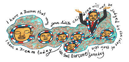 "The civil rights leader is celebrated Doodle style. It was the first Martin Luther King Jr. Day to be celebrated at the new national memorial to the civil rights icon in Washington. <br><b>More: </b><a href=""http://latimesblogs.latimes.com/nationnow/2012/01/martin-luther-king-jr-.html"" target=""_blank"">King's figure emerges from granite</a>"
