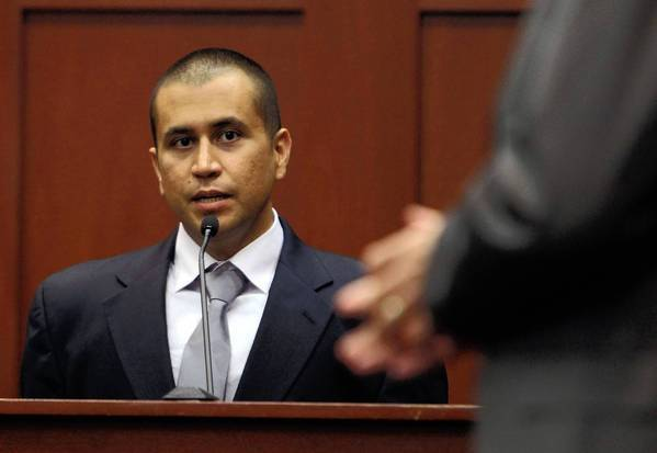 George Zimmerman, at a bond hearing in Sanford, Fla., faces a second-degree murder charge in the killing of 17-year-old Trayvon Martin.